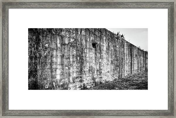 Framed Print featuring the photograph Fortification by Steve Stanger