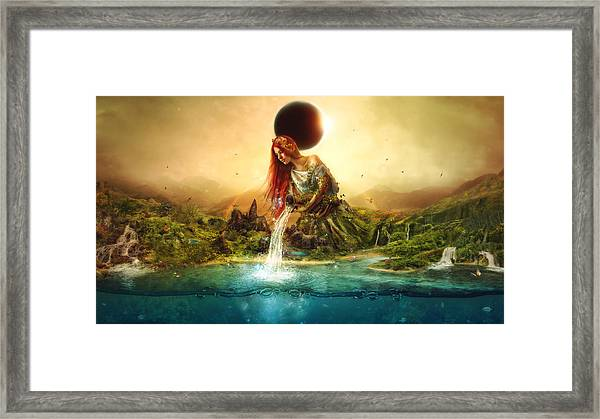 Fountain Of Eternity Framed Print