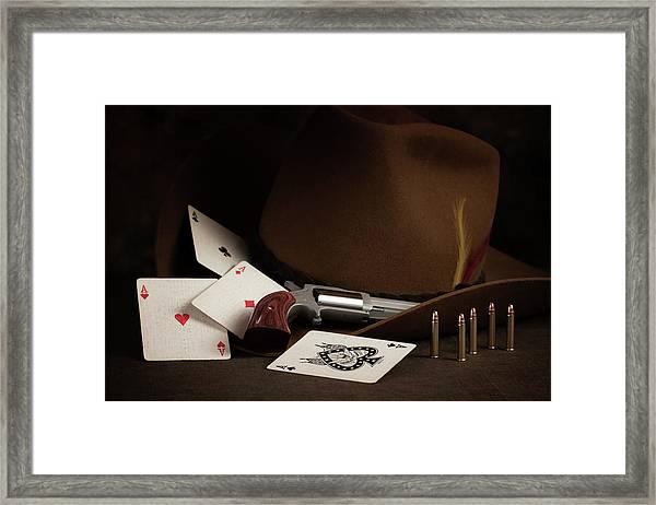 Four Aces Still Life Framed Print