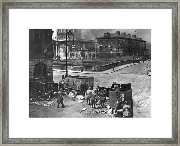 Four Courts Siege Framed Print