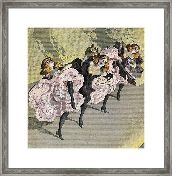 Four Girls Dancing Cancan Framed Print by Bettmann