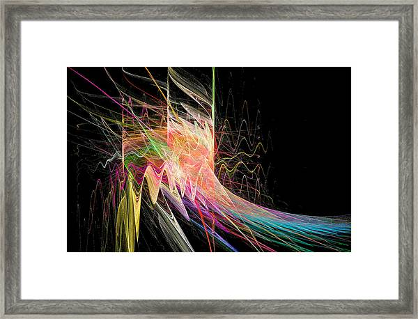Fractal Beauty Deluxe Colorful Framed Print