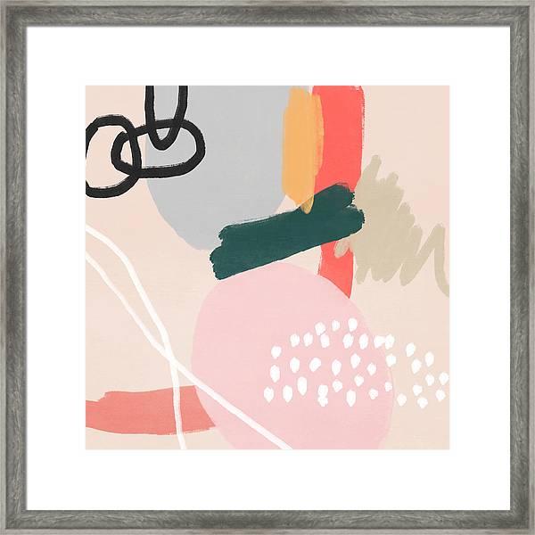 Fragments 3- Art By Linda Woods Framed Print