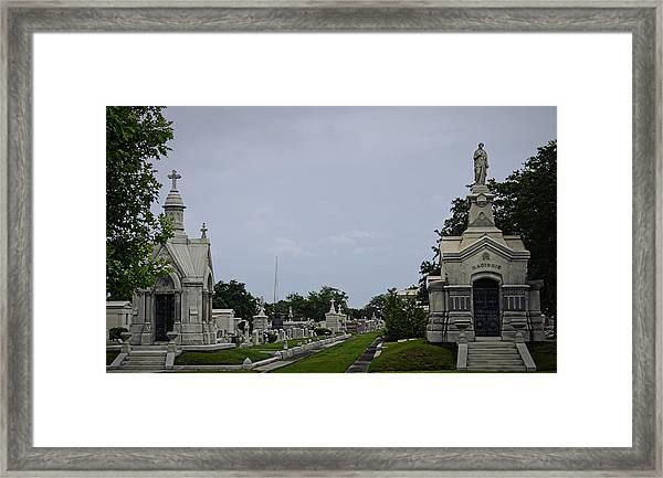 Framed In The Cemetery Framed Print
