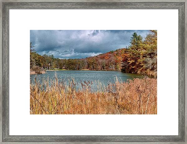 Framed Lake Framed Print