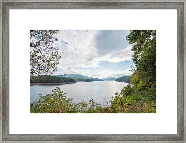 Framed Mountain Lake Framed Print