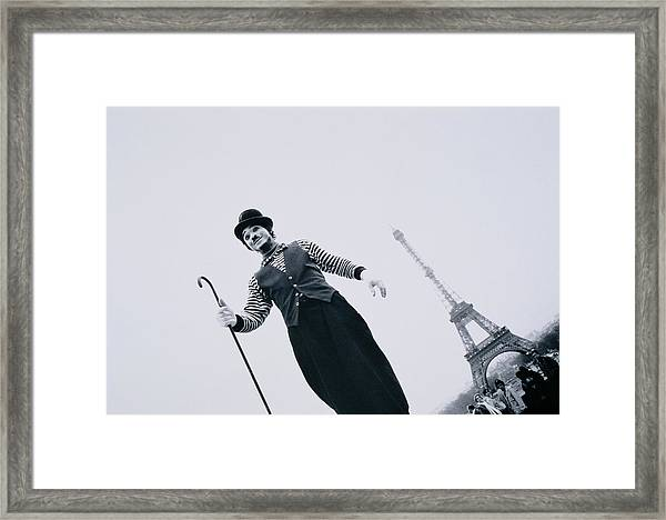 France, Ile-de-france, Paris, Mime Framed Print