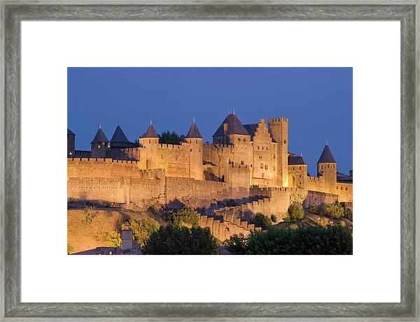 France, Languedoc, Carcassonne, Castle Framed Print