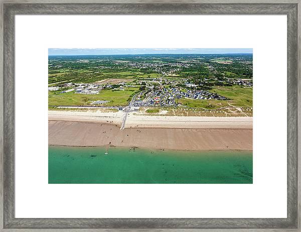 France, Manche, Cotentin, Gouville Sur Framed Print