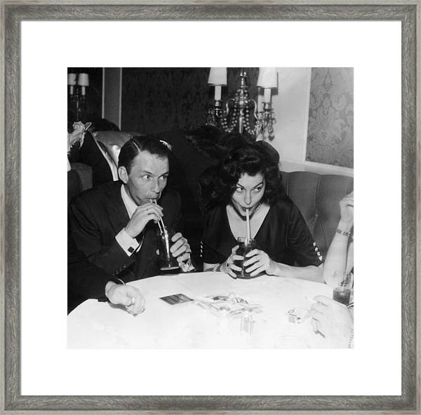 Frank And Ava Framed Print by Hulton Archive