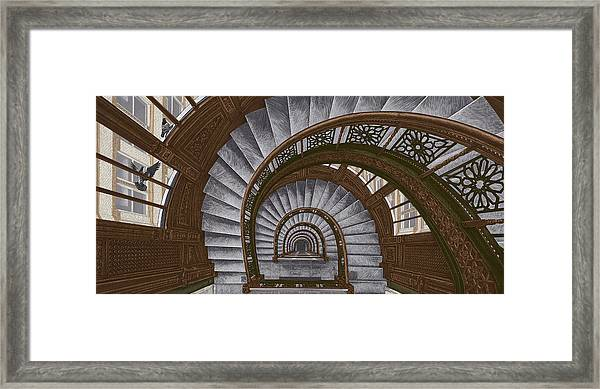 Framed Print featuring the drawing Frank Lloyd Wright - The Rookery by Clint Hansen