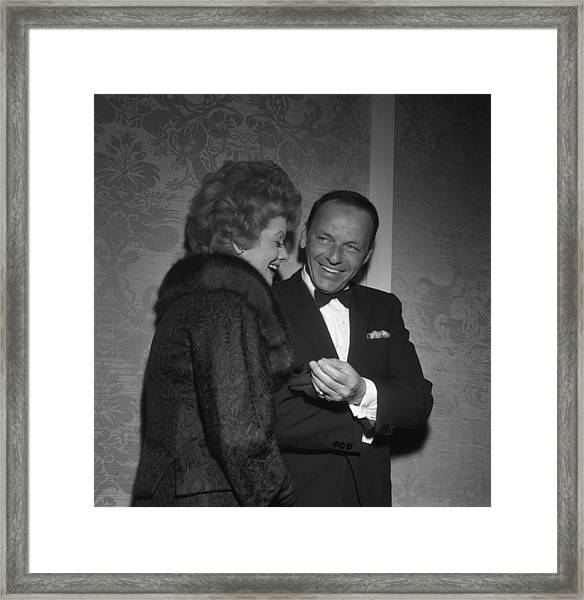 Frank Sinatra And Lucille Ball Framed Print by Michael Ochs Archives