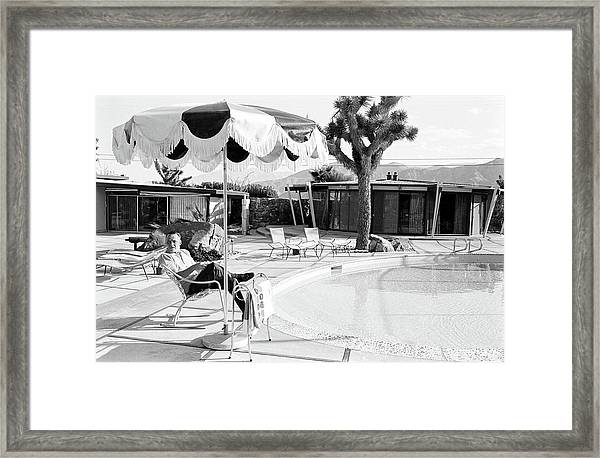Frank Sinatra At Home Framed Print by John Dominis