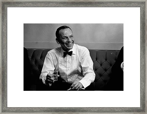 Frank Sinatra Backstage At The Sands Framed Print