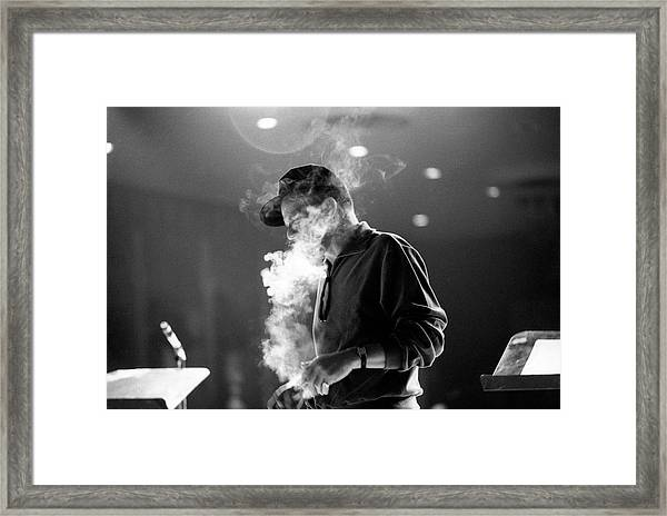 Frank Sinatra During Rehearsals Framed Print