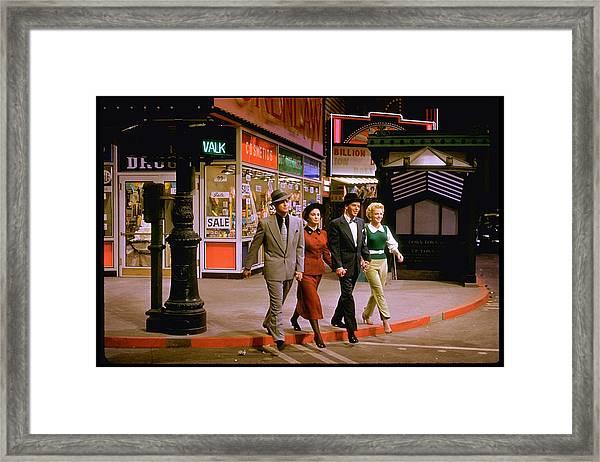 Frank Sinatravivian Blainemarlon Framed Print