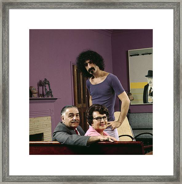 Frank Zappa & His Parents Framed Print by John Olson