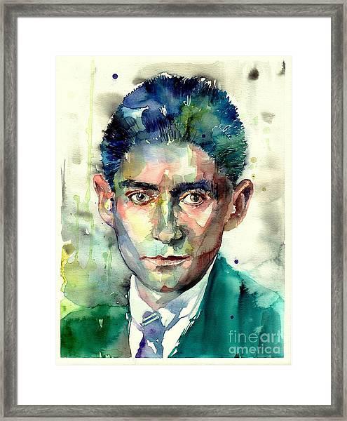 Franz Kafka Portrait Framed Print
