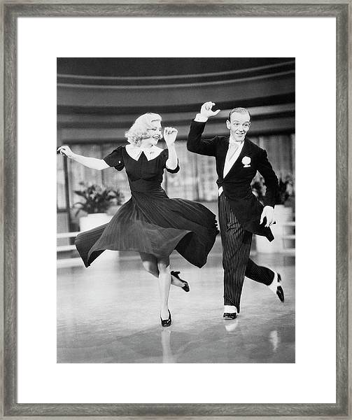 Fred Astaire And Ginger Rogers Dancing Framed Print