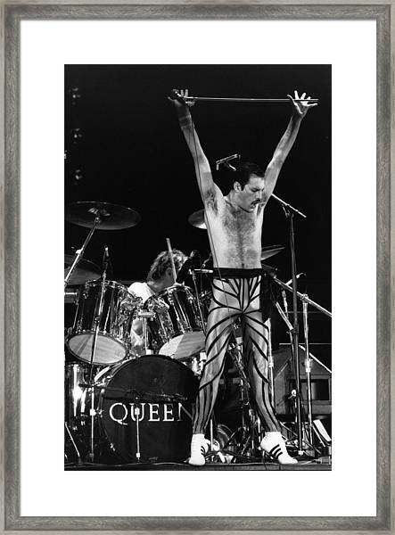 Freddie Mercury Framed Print by Express Newspapers