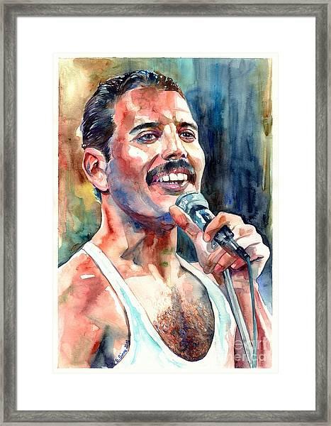 Freddie Mercury Live Aid Framed Print