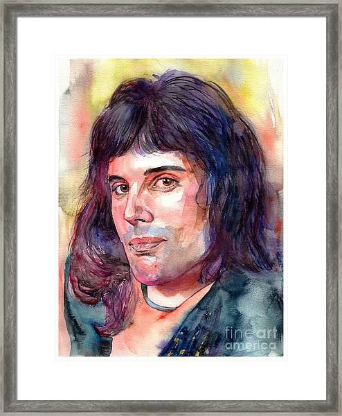 Freddie Mercury Young Framed Print