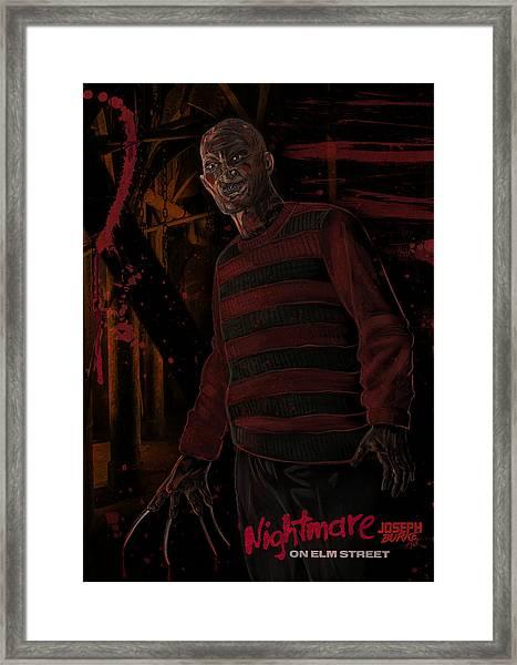 Freddy Krueger Framed Print by Joseph Burke