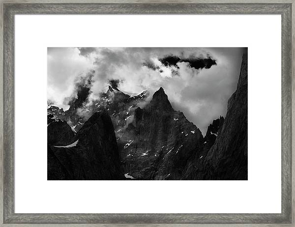 French Alps Region Framed Print