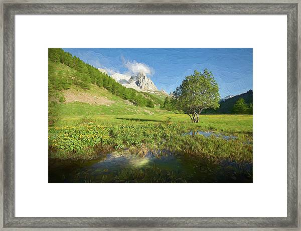French Alps Valley II Framed Print