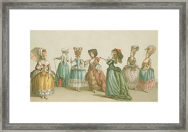 French Fashions Framed Print