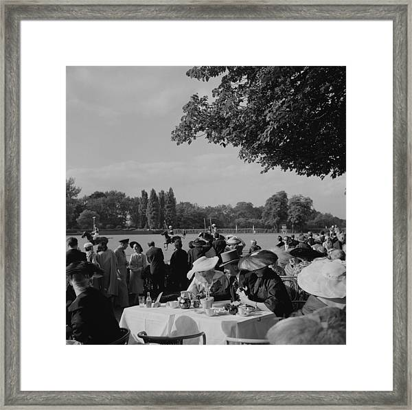 French Polo Crowd Framed Print