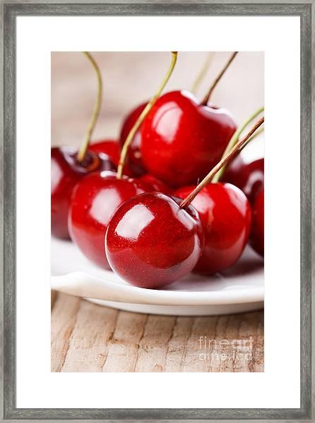 Fresh Cherries Framed Print