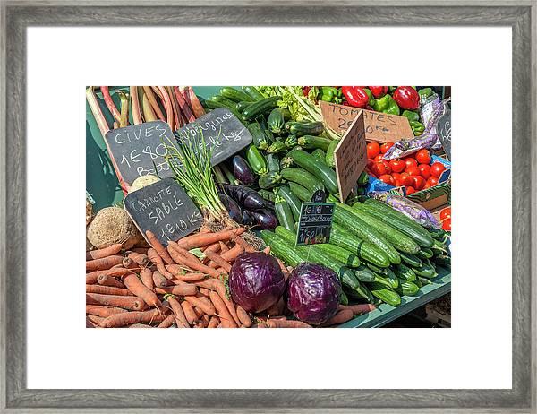 Fresh Vegetable Market, Bayeux Framed Print