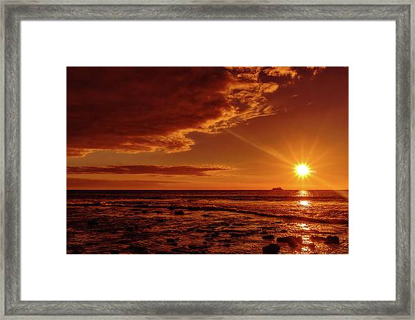 Friday Sunset Framed Print