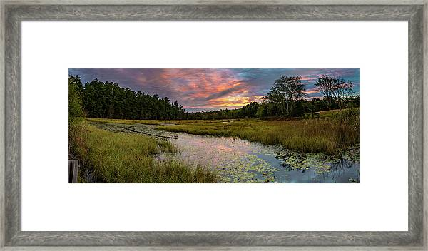 Friendship Panorama  Sunrise Landscape Framed Print