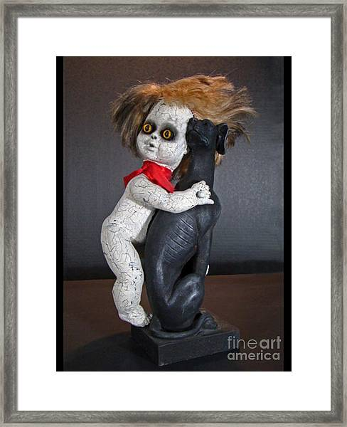 Frightful Freddy Framed Print