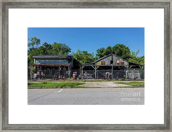 Frog Hollow General Store - Augusta Ga Framed Print
