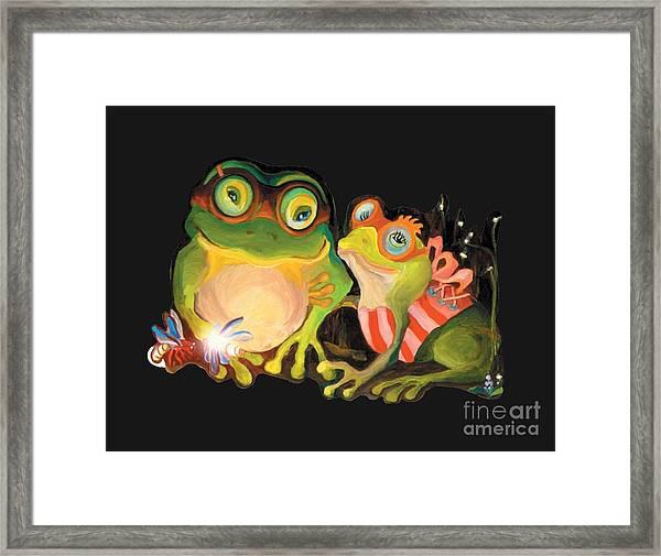 Frogs Overlay  Framed Print