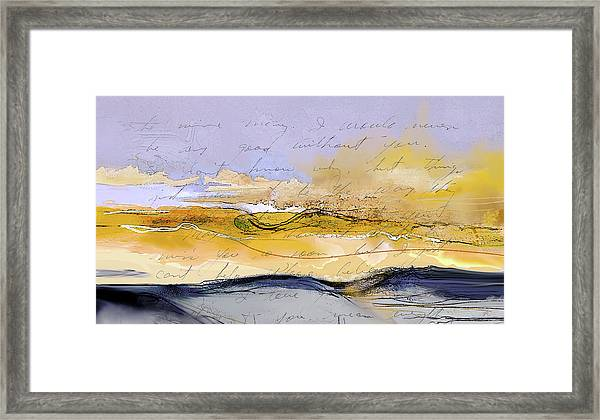 Framed Print featuring the digital art From Kearns Field by Gina Harrison