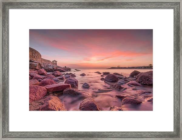Front Beach Dawn Framed Print