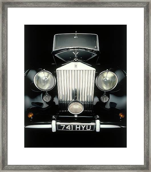 Front End Of Old Rolls Royce Framed Print