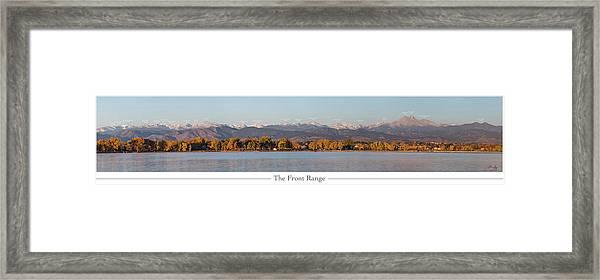 Front Range With Peak Labels Framed Print