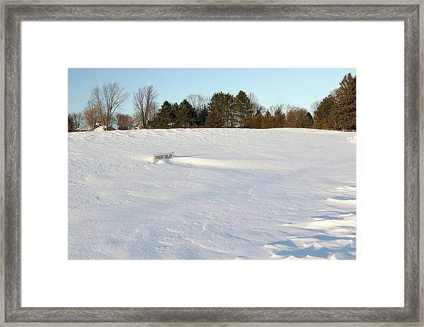 Frost Delay Framed Print