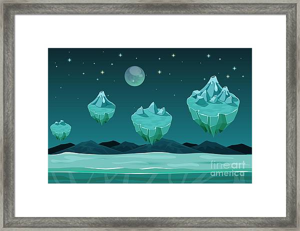Frozen Game Planet Horizontal Framed Print