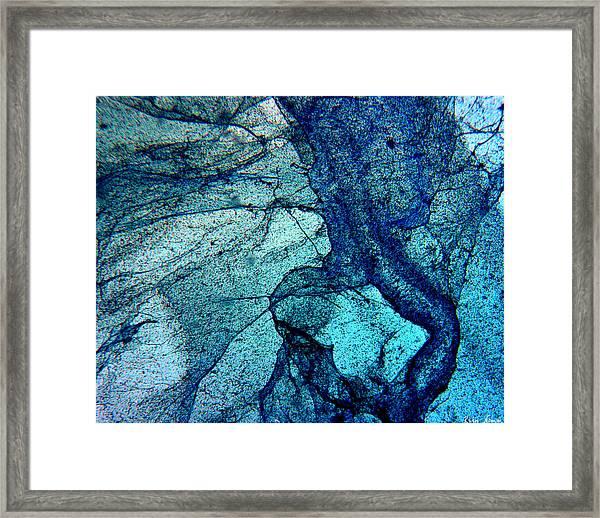 Frozen In Blue Framed Print
