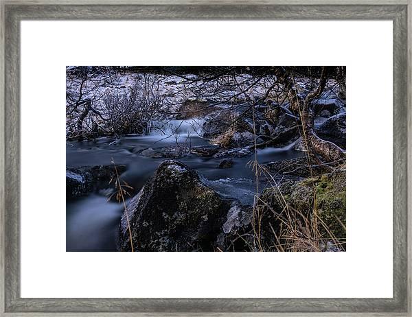 Frozen River II Framed Print