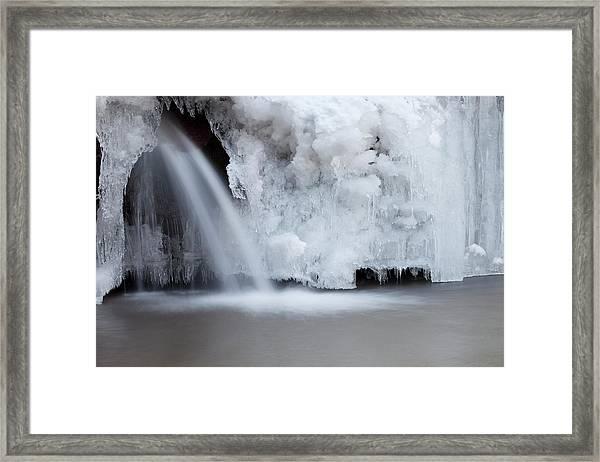 Frozen Waterfall Framed Print by Terryfic3d