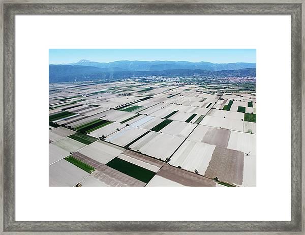 Fucino, In Abruzzo, Aerial View Framed Print