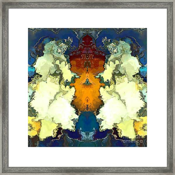 Framed Print featuring the digital art Fuego  by A z Mami