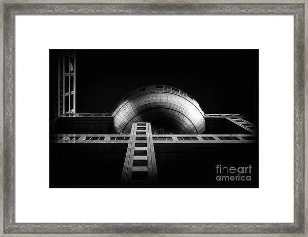 Fuji Tv Building In Tokyo Framed Print by Delphimages Photo Creations